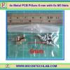 4x Metal PCB Pillars 6 mm with 8x M3 Nuts (เสารองแผ่นพีซีบีโลหะแบบเหลี่ยมพร้อมน็อตยึด)