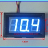 1x Digital DC Voltmeter 0-99.9 Vdc 3 Wires 0.56 Inch Module (Blue Color)