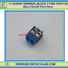 1x SCREW TERMINAL BLOCK 2 PINS Pitch 5.0mm 300V/10A Blue COLOR