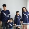 เสื้อครอบครัว ชุดครอบครัว ผ้าเนื้อนิ่มแขนยาว มาครบ พ่อ แม่ ลูกสาว ลูกชาย : FC 0032