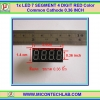 1x 7's Segment 4-digit 0.36 inch Red Color Common Cathode