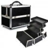 Professional Aluminium Makeup Cosmetic Box Vanity Case สีดำ