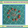 10x Capacitor 0.1uF 50V (Code 104) Ceramic Disc Capacitor