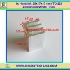 1x Heatsink 17x17x25 mm TO-220 Aluminium White Color