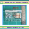 4x Metal PCB Pillars 20 mm with 8x M3 Nuts (เสารองแผ่นพีซีบีโลหะแบบเหลี่ยมพร้อมน็อตยึด)
