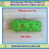 100x Resistor 100 Ohm 1/4 Watt 1% Metal film Resistor (100pcs per lot)