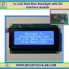 1x LCD 20x4 Blue Backlight with I2C interface module