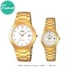 """นาฬิกาคู่ นาฬิกาคู่รัก นาฬิกาคู่ชายหญิง ยี่ห้อ CASIO Standard Classic """"GOLD"""""""
