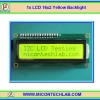 1x LCD 16x2 Yellow Backlight