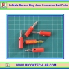 5x Male Banana Plug 4mm Connector Red Color