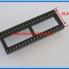 1x IC Socket DIP 40 PINS 15.24 mm PITCH 2.54mm NARROW TYPE