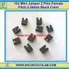 10x Mini Jumper 2 Pins Female Pitch 2.54mm Black Color