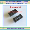 2x IC Socket DIP 18 PINS 7.62mm PITCH 2.54mm NARROW TYPE