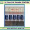 5x Electrolytic Capacitor 470uF 35V (คาปาซิเตอร์)