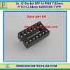 2x IC Socket DIP 14 PINS 7.62mm PITCH 2.54mm NARROW TYPE