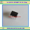 1x UA741 Operational Amplifiers 741 (Op-amp) IC Chip