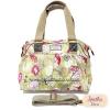 กระเป๋า Chalita wu + สายสะพาย สีเขียว ลายดอกไม้