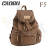 Caden F5 Retro Canvas DSLR Camera Backpack (Dark Brown)