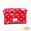 กระเป๋าสะพาย Chalita wu สีแดงชมพู ลายจุด
