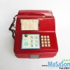 โทรศัพท์เก่าหยอดเหรียญสีแดง