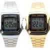 นาฬิกา CASIO นาฬิกาคู่ เรือนทอง เรือนเงิน รุ่น A178WGA-1 กับ A178WA-1 ประกันศูนย์ 1 ปีเต็ม