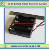 1x AA Battery Holder Socket 4x AA Size (กะบะถ่าน AA ขนาด 4 ก้อน)