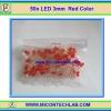 50x LED Red Color 3mm (แอลอีดีสีแดง 3มม 50 ตัวต่อชุด)