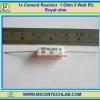 1x Cement Resistor 1 Ohm 3 Watt 5% Royal ohm