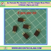 5x Female Pin Header 1x2 Pin Single Row Pitch 2.54mm (5pcs per lot)