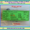 10x Resistor 3.3 KOhm 1/4 Watt 1% Metal film Resistor (10pcs per lot)