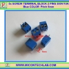 5x SCREW TERMINAL BLOCK 2 PINS Pitch 5.0mm 300V/10A Blue COLOR Pitch