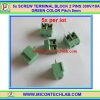5x SCREW TERMINAL BLOCK 2 PINS Pitch 5.0mm 300V/10A GREEN COLOR