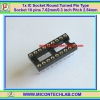 1x IC Socket 18 Pins Round Turned Pin Type Socket 18 pins 7.62mm/0.3 inch Pitch 2.54mm