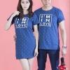 """เสื้อคู่ เสื้อคู่รัก ชุดคู่รัก เสื้อคู่รักเกาหลี เสื้อคู่แฟชั่น ลาย """"I'm IN LOVE"""" ADX010"""