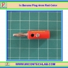 1x Male Banana Plug 4mm Connector Red Color