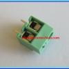 1x SCREW TERMINAL BLOCK 2 PINS Pitch 5.0mm 300V/10A GREEN COLOR