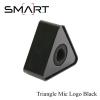 Microphone Logo SMART Triangle Mic Logo เพลทติดโลโก้ สามเหลี่ยม พร้อมฟองน้ำซับใน -Black