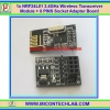 1x NRF24L01 2.4GHz Wireless Transceiver Module + 8 PINS Socket Adapter Board