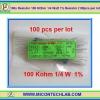 100x Resistor 100 KOhm 1/4 Watt 1% Resistor (100pcs per lot)