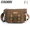กระเป๋ากล้อง Caden F1 Canvas Shoulder Camera Bag สีน้ำตาลเข้ม (Dark Brown)