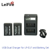 Battery Set LeiFire Dual USB For Canon LP-E17 with 2*Battery set