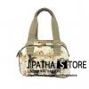 กระเป๋า Chalita wu + สะพาย สีเหลือง ลายดอกไม้