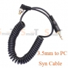 Flash Cable PC Sync /Cord For Camera Flash Trigger with 3.5mm