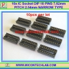 10x IC Socket DIP 18 PINS 7.62mm PITCH 2.54mm NARROW TYPE