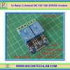 1x Relay 2 channel Opto Isolator DC 12V 10A 250VAC module