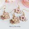 เลือกลายด้านในค่ะ ต่างหู Pink Pastel Sakura And Star JP Style ER30121