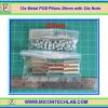 12x Metal PCB Pillars 20 mm with 24x M3 Nuts (เสารองแผ่นพีซีบีโลหะแบบเหลี่ยมพร้อมน็อตยึด)