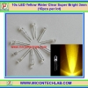 10x LED Yellow Water Clear Super Bright 3mm (10pcs per lot)