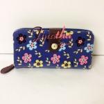 กระเป๋าสตางค์ Chalita wu สีฟ้า ลายซากุระ