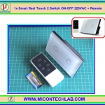 1x Smart Real Touch 2 Switch ON-OFF 220VAC + Remote (สวิตซ์ระบบสัมผัส 220VAC แบบ 2 ปุ่ม)
